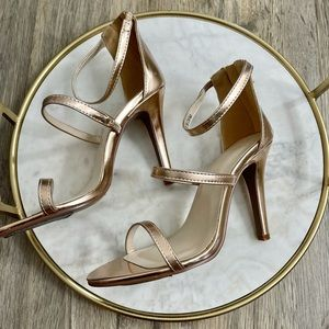 David's Bridal Rose Gold Heels size 7.5